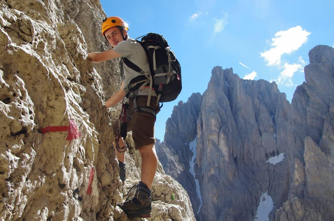 Klettersteig Dolomiten : Klettersteige gröden dolomiten u hotel continental